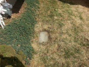 …AFTER: Midwest Sprinkler leaves your lawn with no trace of damage or digging