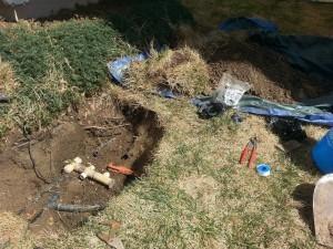 DURING: Sprinkler repair can get messy, but nobody cleans up like Midwest Sprinkler…